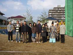 地鎮祭 参加者記念撮影