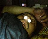 鼻栓で眠る旦那