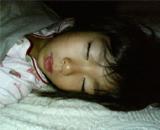 長女の寝顔