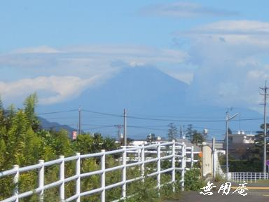 富士初冠雪