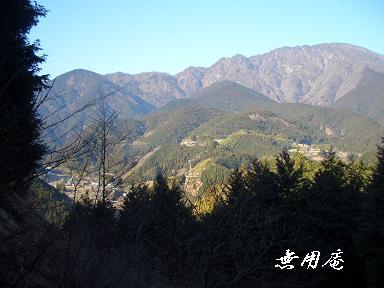 篠井山と坂本集落