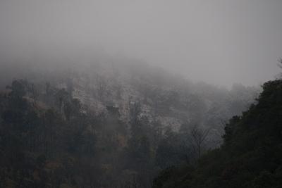 0209本庄川ダム山の雪景色