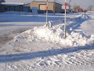 人力で、除雪後・・・