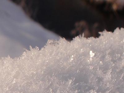 キラキラな雪
