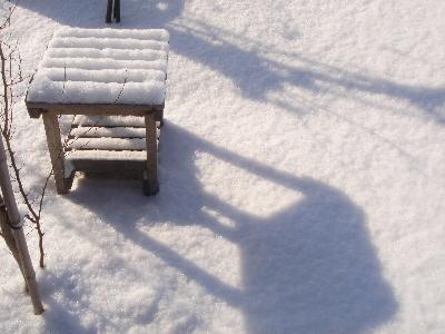 雪のクッション