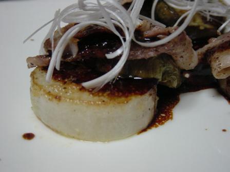 大根と豚バラのステーキ
