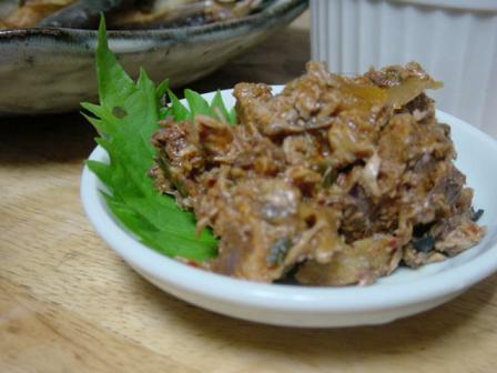 かつおのアラの韓国風佃煮