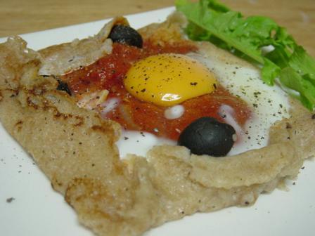 トマト卵のガレット