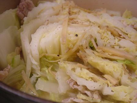 白菜に豚バラ