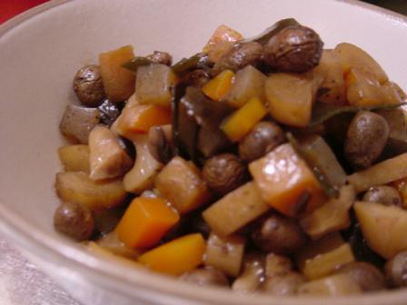 ムカゴの五目豆