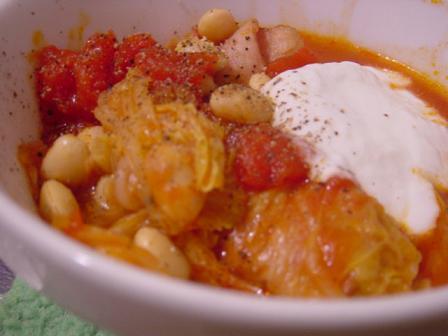 白菜とベーコンのトマト鍋