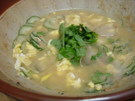 炒り卵入り冷や汁