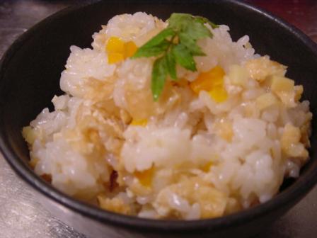 生姜と油揚げの炊き込みご飯