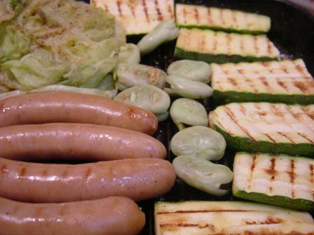 野菜とソーセージのグリル