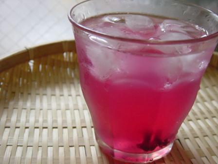 赤紫蘇酢割り