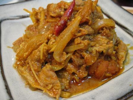 南インド風豚肉としょうがのカレー