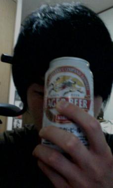 ビール呑む