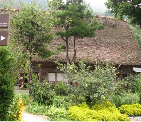 田舎風の庭
