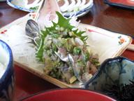 鯵の味噌たたき定食