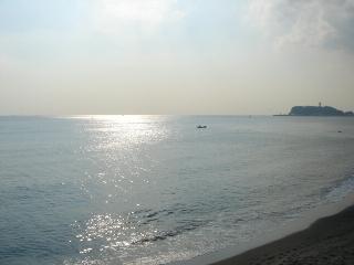 七里ガ浜駐車場からの景色