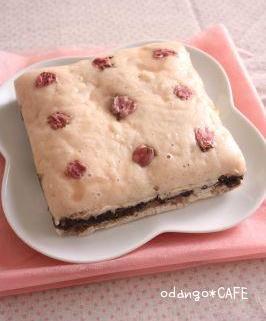 上新粉入りでもちもち♪桜の和風蒸しケーキ