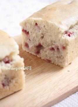 ほんのりココナッツ♪米粉の苺パウンドケーキ
