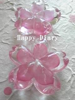 ガラスの桜のお箸置き