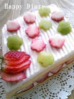 2009年お雛祭りのケーキ