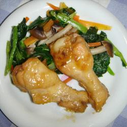 鶏手羽元の煮付け 盛付け例