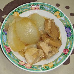 玉ねぎとメカジキの煮物