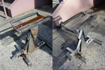 錆び落とし剤 使用前使用後