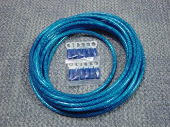 青いケーブル