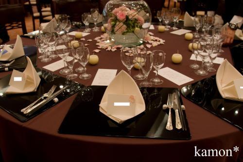 席札テーブル