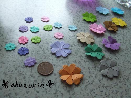 ハート 折り紙 折り紙梅の花折り方 : divulgando.net