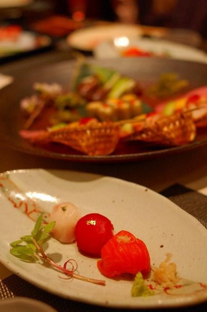 前菜と手毬寿司