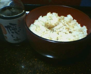 ご飯に直接醤油