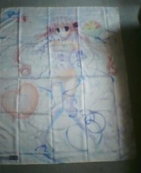 『御狭霧かなで』描き下ろし等身大ベッドシーツ