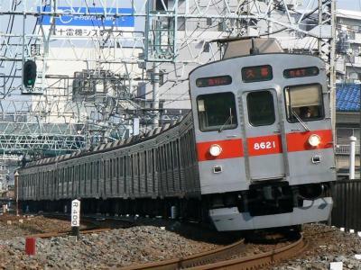 F1354T列車に充当された東急8500型8521F