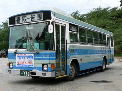 佐原駅~香取線運用に就く関鉄観光バス7011IT
