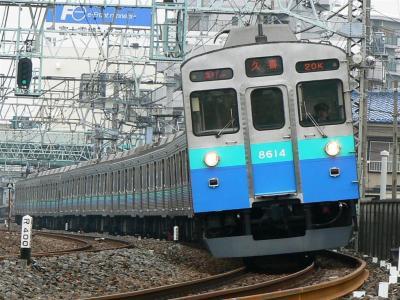 東武線直通運用に充当された東急8500系8514F伊豆のなつ号