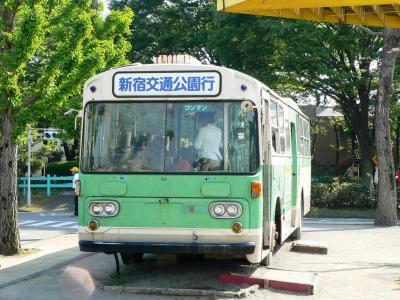 以前展示されていた元都営バスZ-L593号車