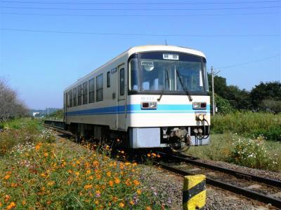 浜駅を発車する第15列車KR500型505号車