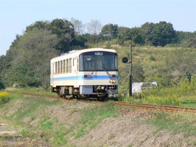 鉾田折返し第18列車に充当されたKR500型505号車を後追い撮影