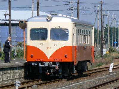 榎本駅に到着した第20列車 キハ430型432号車