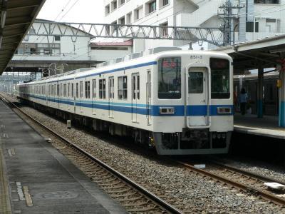 2405レ 準急 太田ゆき運用に充当された801F+851F(2005.07.10)