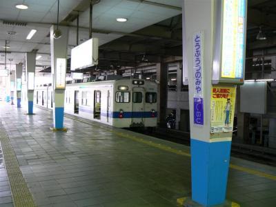 東武宇都宮駅の駅名標と併せて撮影