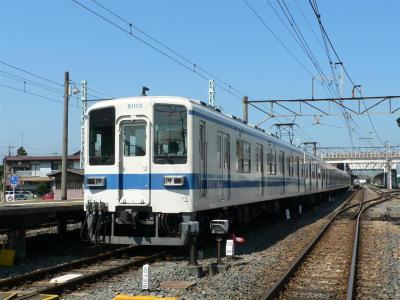伊勢崎駅で折り返す準急浅草ゆきも見納め