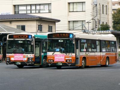 PASMOが利用できる東武バス西新井営業所所属車両