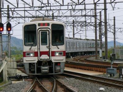東武日光駅に進入する臨時回送5061レ