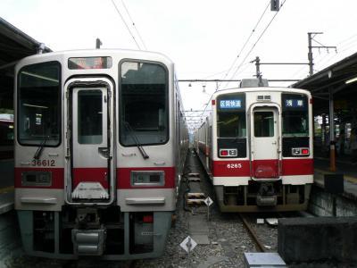 区間快速64レと東武日光駅で並んだ臨時快速5064レ
